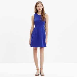 Madewell Blue Abroad Pockets Party Career Dress 0